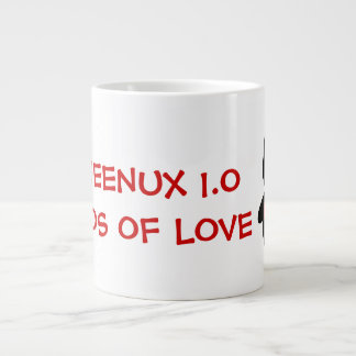 Computer Geek Valentine: Operating System for Love Jumbo Mug