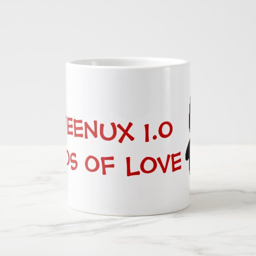 Computer Geek Valentine: Operating System for Love Extra Large Mug