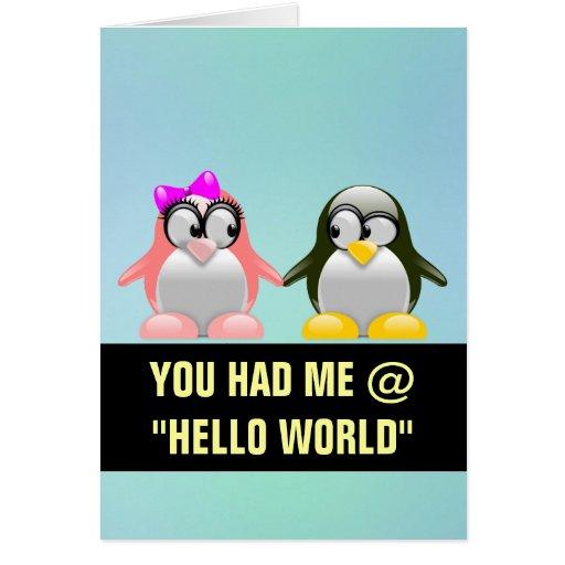 Computer Geek Valentine: Programming Language Love Cards