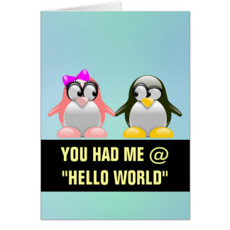 Computer Geek Valentine: Programming Language Love Note Card