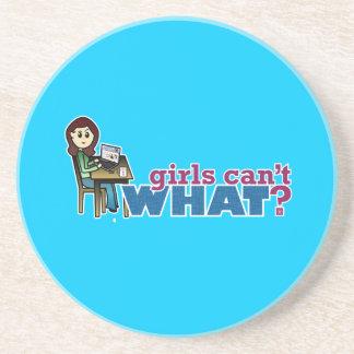 Computer Girl - Light Beverage Coaster
