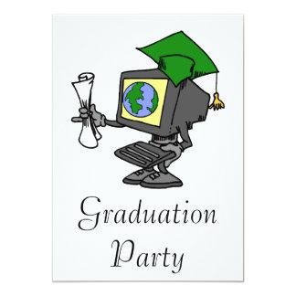 Computer Graduate 13 Cm X 18 Cm Invitation Card