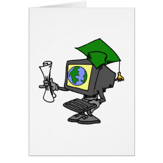 Computer Graduate Greeting Card