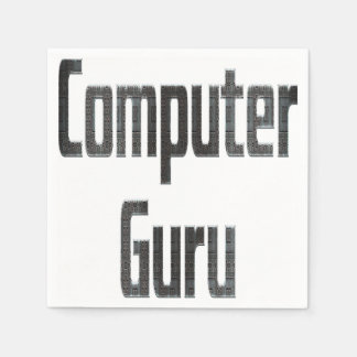 Computer Guru Grey Disposable Napkins