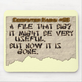 Computer Haiku #86 Mouse Pads
