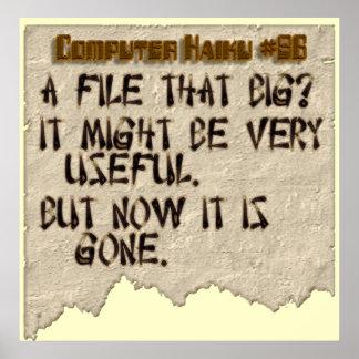Computer Haiku #86 Poster