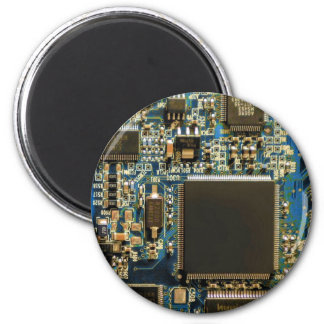 Computer Hard Drive Circuit Board blue Magnet