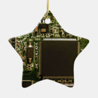 Computer Hard Drive Circuit Board Ceramic Star Decoration
