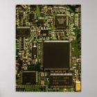 Computer Hard Drive Circuit Board Poster