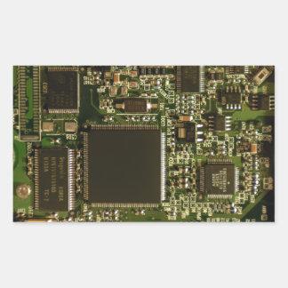 Computer Hard Drive Circuit Board Rectangular Sticker