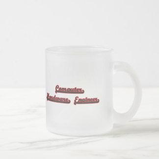 Computer Hardware Engineer Classic Job Design Frosted Glass Mug