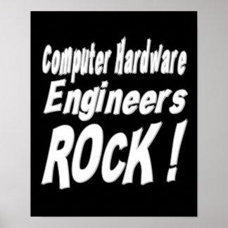 Computer Hardware Engineers Rock! Poster Print