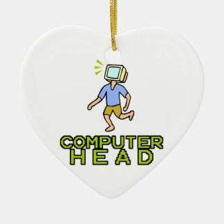 computer head ceramic heart decoration