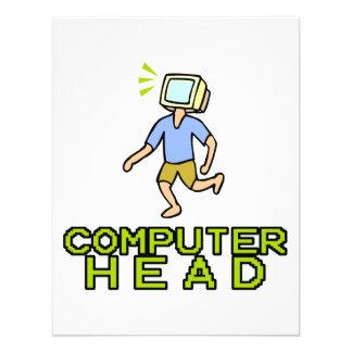 computer head personalized invitation