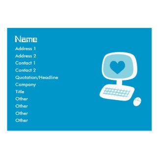Computer Heart Business Cards