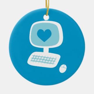 Computer Heart Christmas Tree Ornament