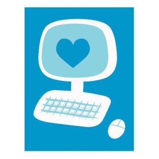 Computer Heart Postcard