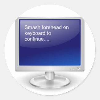 Computer Humor II Round Sticker
