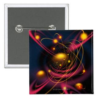 Computer illustration technique 15 cm square badge