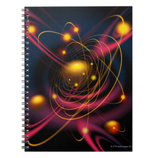 Computer illustration technique spiral notebook