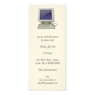 Computer 4x9.25 Paper Invitation Card