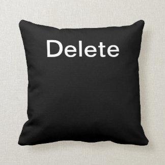 Computer Key Delete (Black) Cushion
