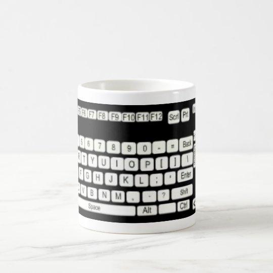 Computer Keyboard Art Fun Coffee Mug
