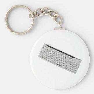 computer keyboard basic round button key ring
