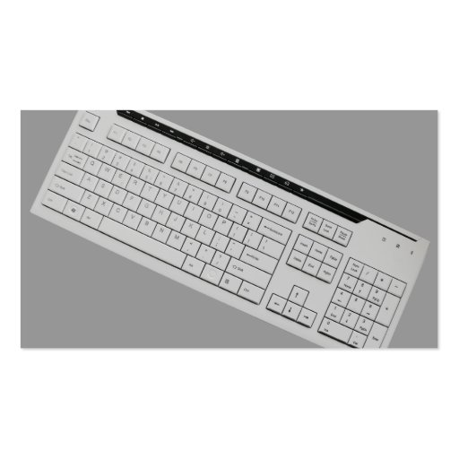 Computer keyboard business card template