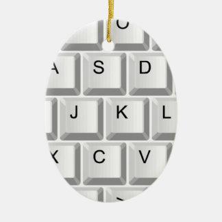 Computer Keyboard Ceramic Oval Decoration