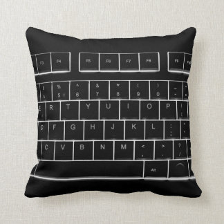 computer keyboard throw pillow