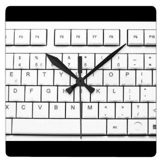 computer keyboard wall clock