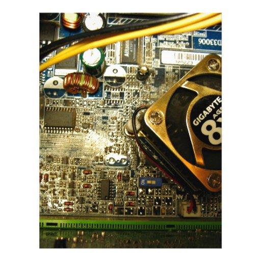 Computer mainboard flyer design