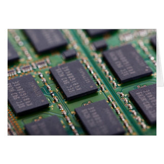 Computer Memory Chips Card