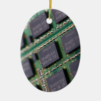 Computer Memory Chips Ceramic Oval Decoration