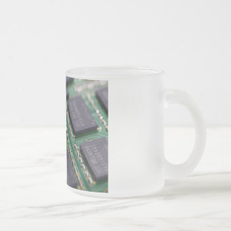 Computer Memory Chips Frosted Glass Mug