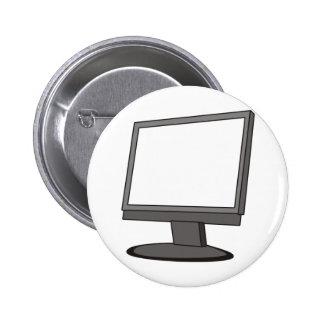 Computer Monitor 6 Cm Round Badge