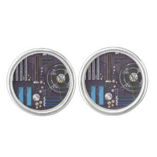 Computer Motherboard CPU Cufflinks