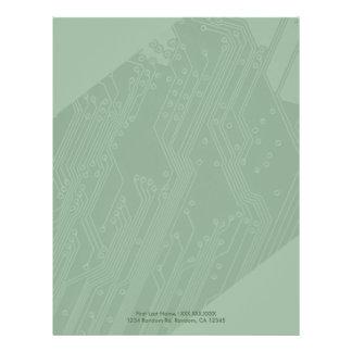 Computer motherboard letterhead stationary paper 21.5 cm x 28 cm flyer