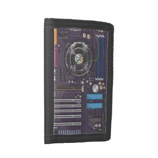 Computer Motherboard Trifold Wallets