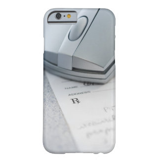 Computer mouse on written prescription barely there iPhone 6 case