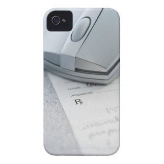Computer mouse on written prescription iPhone 4 Case-Mate cases