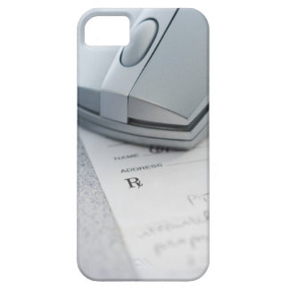 Computer mouse on written prescription iPhone 5 cases