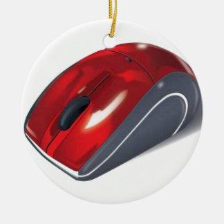 Computer mouse round ceramic decoration