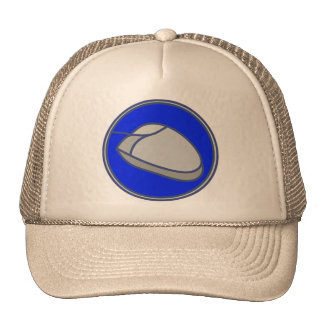 COMPUTER MOUSE SIGN TRUCKER HAT