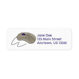 Computer Mouse Tech Techie Return Address Labels