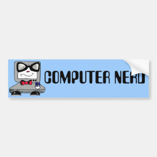 Computer Nerd - Customize Text and Color Bumper Sticker