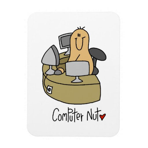 Computer Nut T-shirts and Gifts Rectangular Magnet