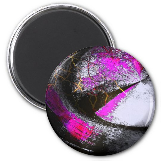 Computer Painting Digital Abstract 6 Cm Round Magnet