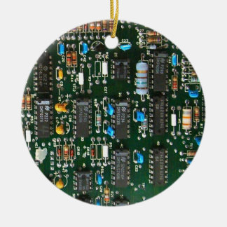Computer Printed Circuit Board Christmas Ornament